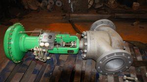 Клапан пневматический РУСТ, ТИП ЗК10С050 Н3, нержавеющая сталь 10Х17Н13М2Т, ДУ80 РУ63