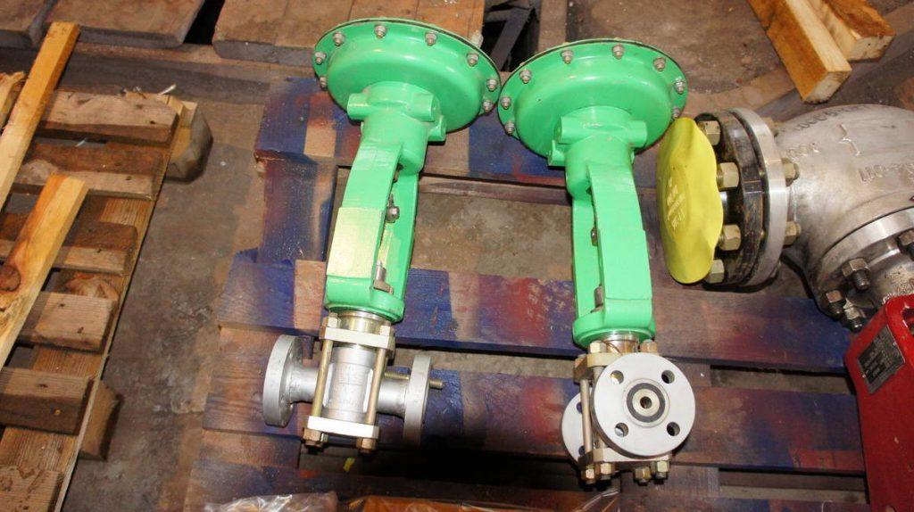 Клапан пневматический РУСТ, нержавеющая сталь 10Х17Н13М2Т, ДУ25 РУ40