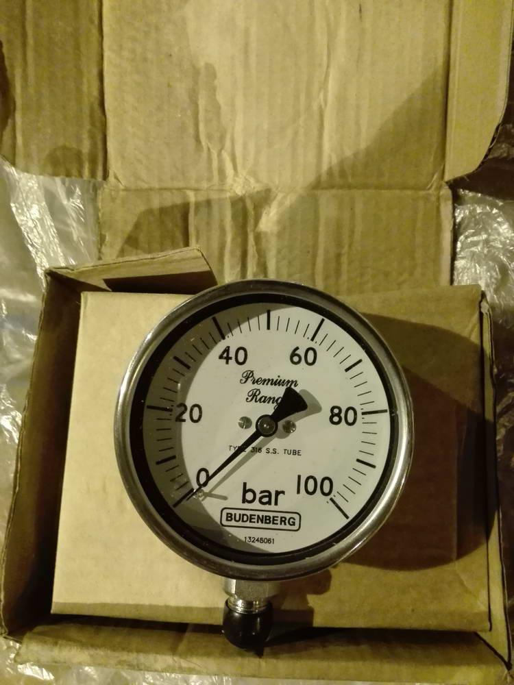 Манометр 100 бар BUDENBERG AISI 316