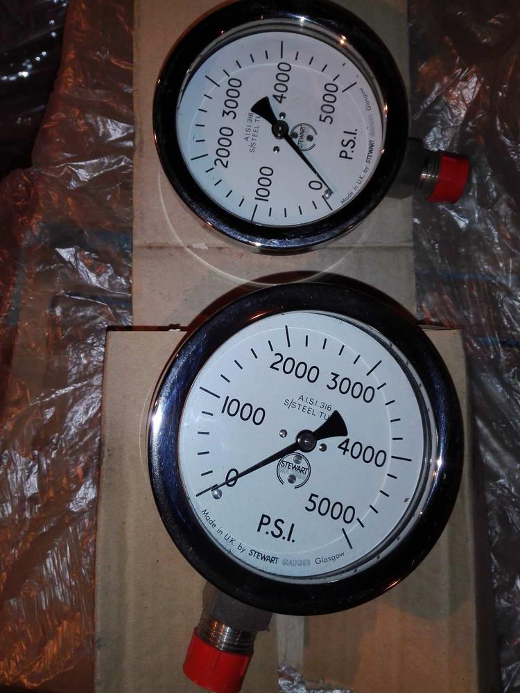Манометр 5000 PSI STEWART GAUGE AISI 316