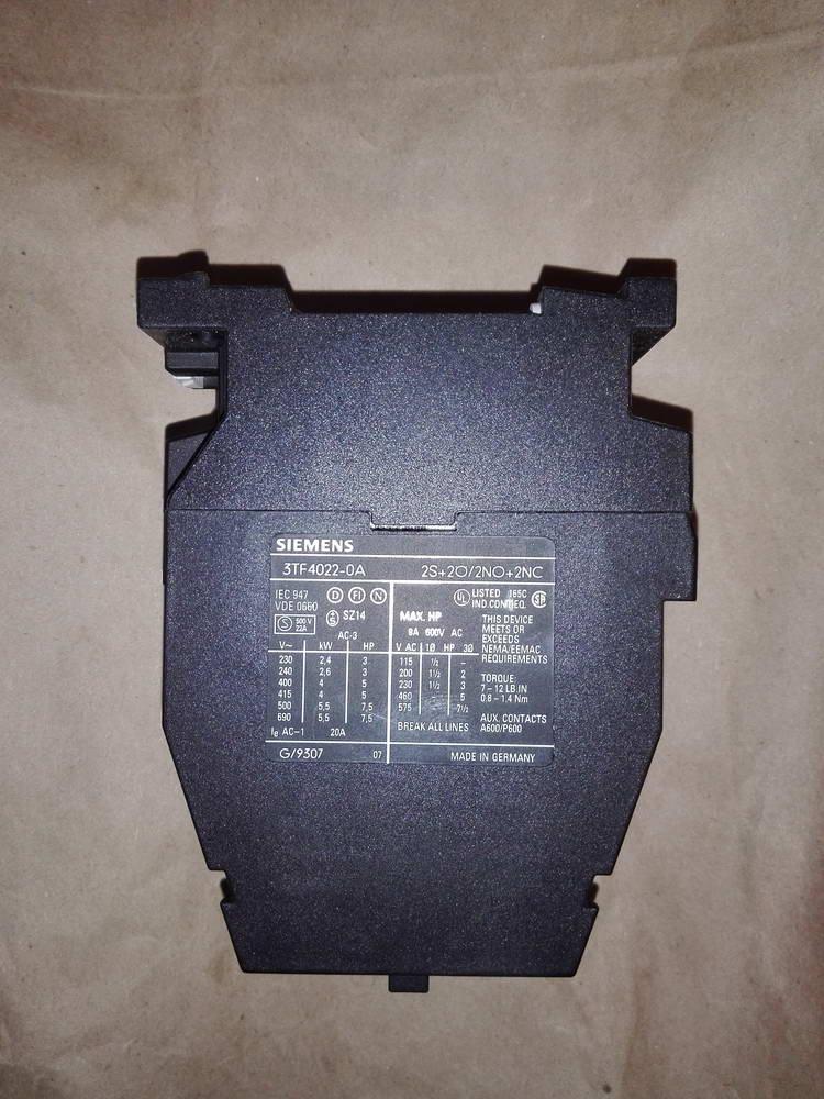 Контактор SIEMENS 3TF4022-0A