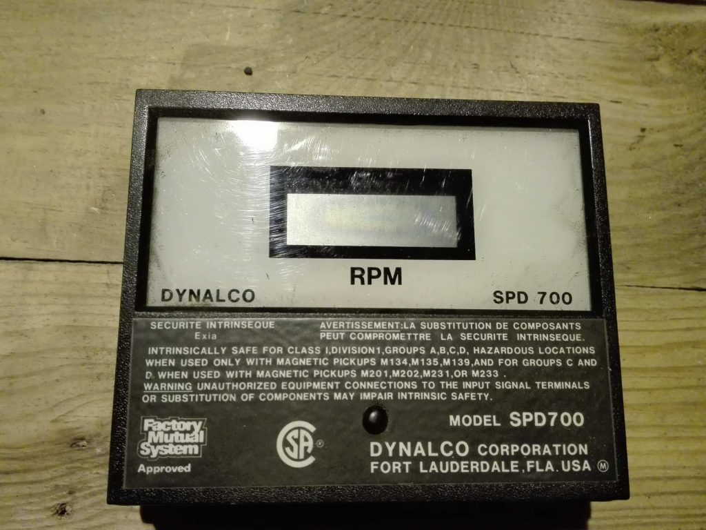 Цифровой крановый тахометр DYNALCO SPD700